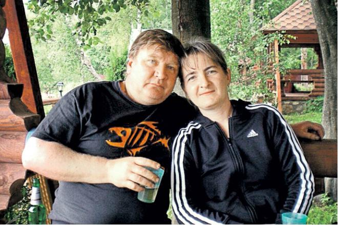 Роман Мадянов с женой Натальей