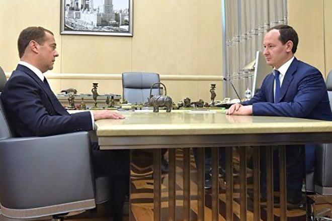 Дмитрий Медведев и Павел Ливинский