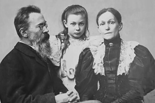 Николай Римский-Корсаков с семьей
