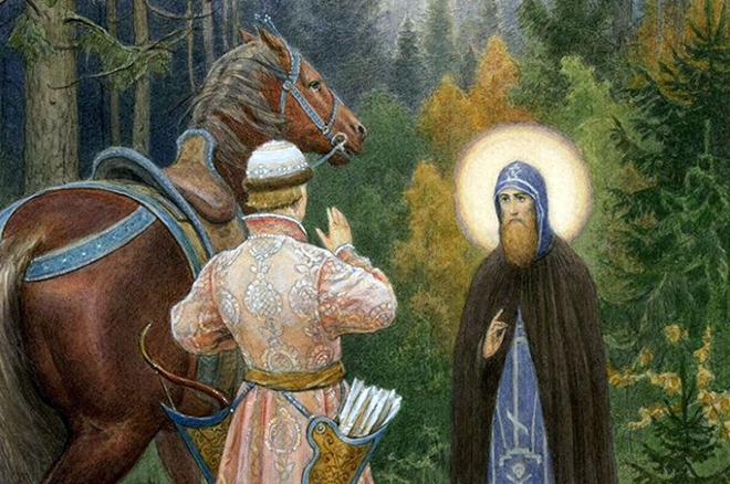 Святой Даниил Московский является путешественнику
