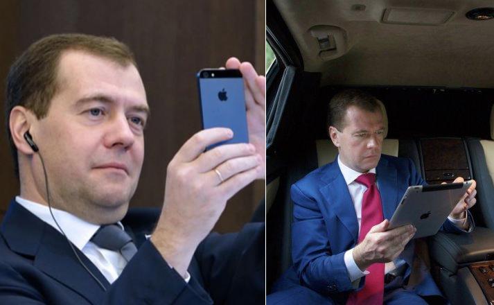 Дмитрий Медведев любит гаджеты