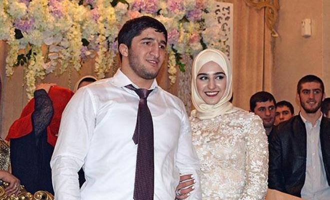 Абдулрашид Садулаев с женой