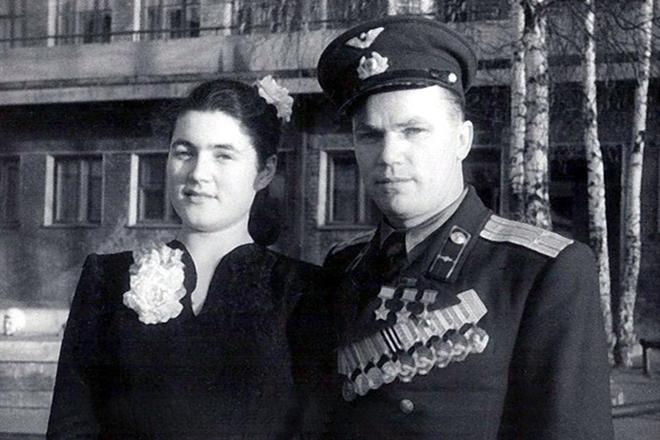 Иван Кожедуб и его жена Вероника