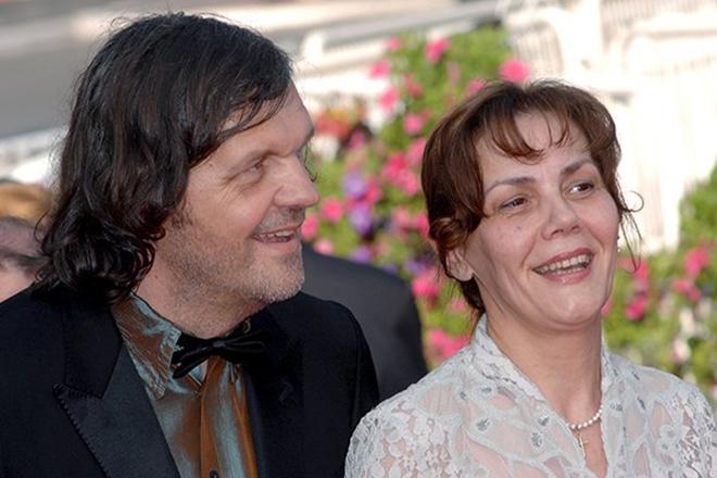 Эмир Кустурица с женой