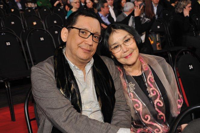 Егор Кончаловский с мамой