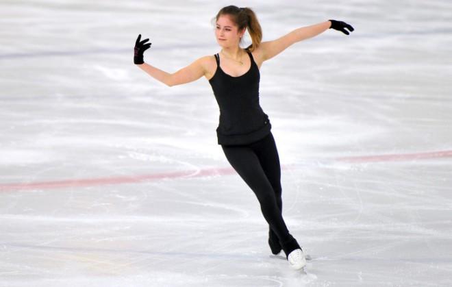 Юлия Липницкая на тренировке