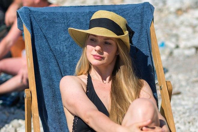 Елена Аросьева на съемках сериала «Пляж. Жаркий сезон»
