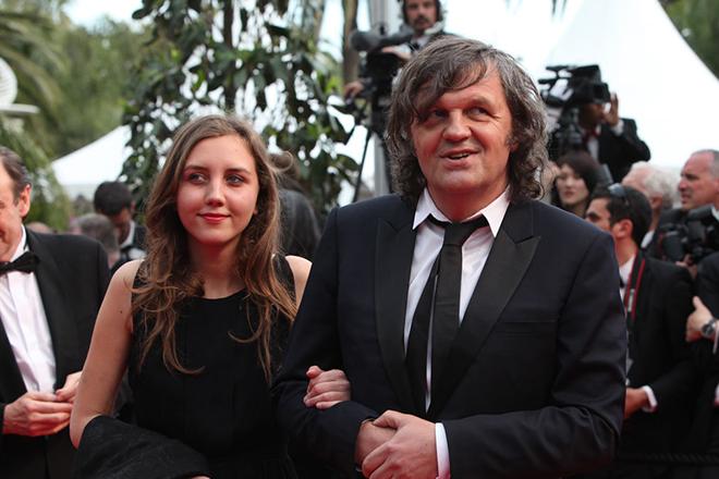 Эмир Кустурица с дочерью