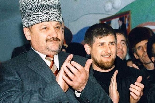 Рамзан Кадыров с отцом Ахмадом Кадыровым
