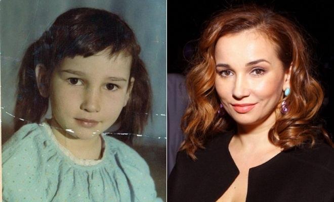 Анфиса Чехова в детстве и сейчас