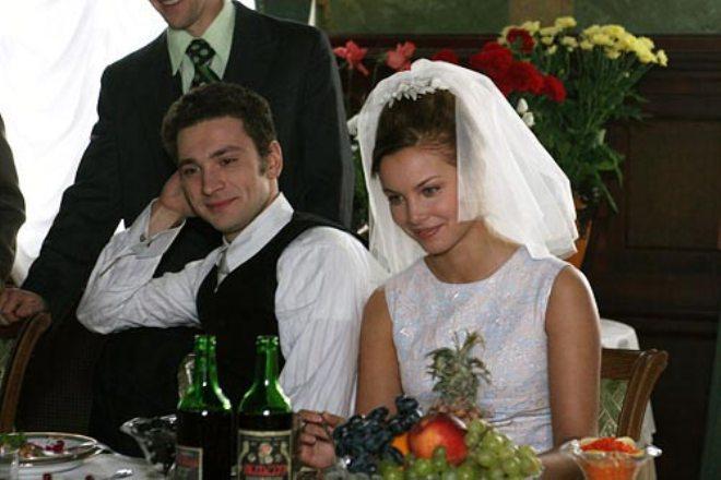 Антон Хабаров и Татьяна Арнтгольц на съемках фильма