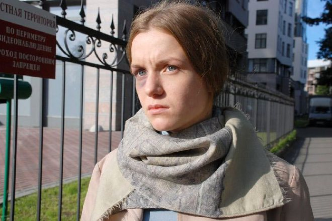 Полина Филоненко на съемках фильма