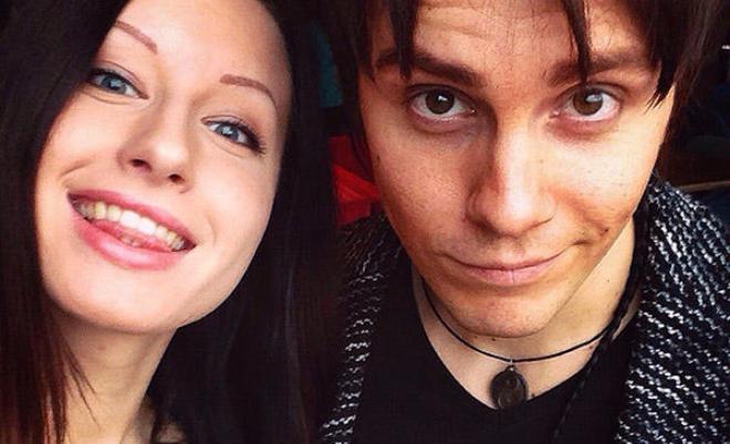 Александр Бон с девушкой Анастасией