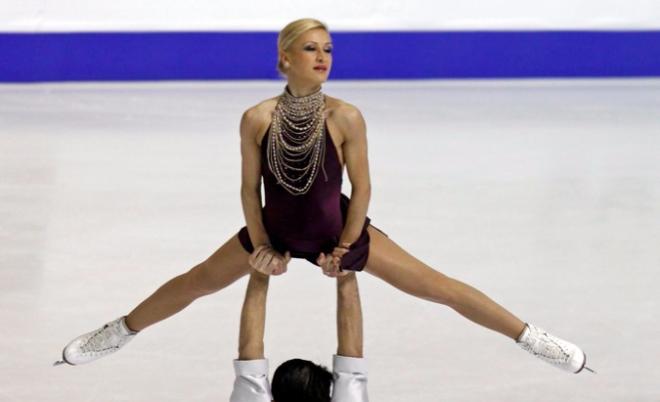 Татьяна Волосожар на льду