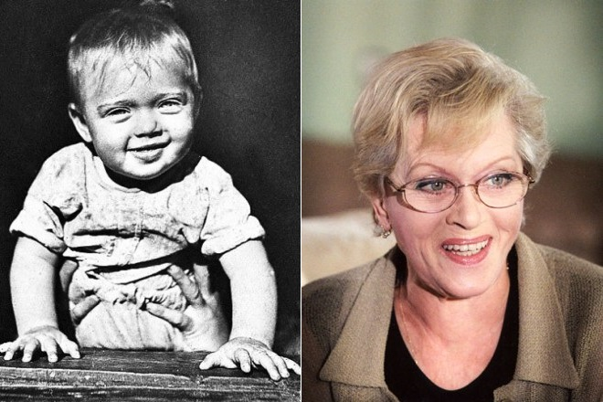 Алиса Фрейндлих в детстве и сейчас
