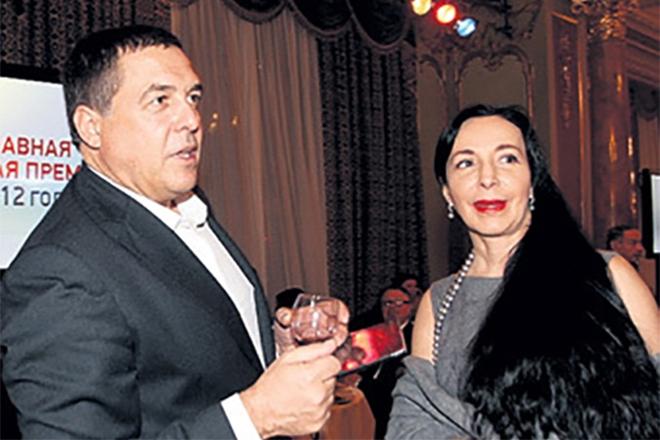 Александр Любимов с женой