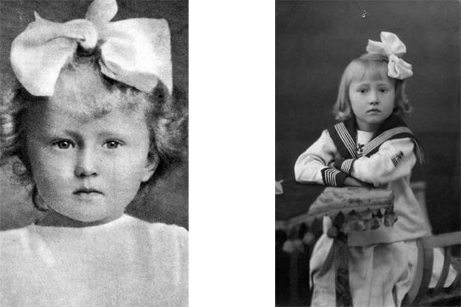 Галина Уланова в детстве