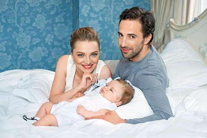 Илья Любимов с семьей