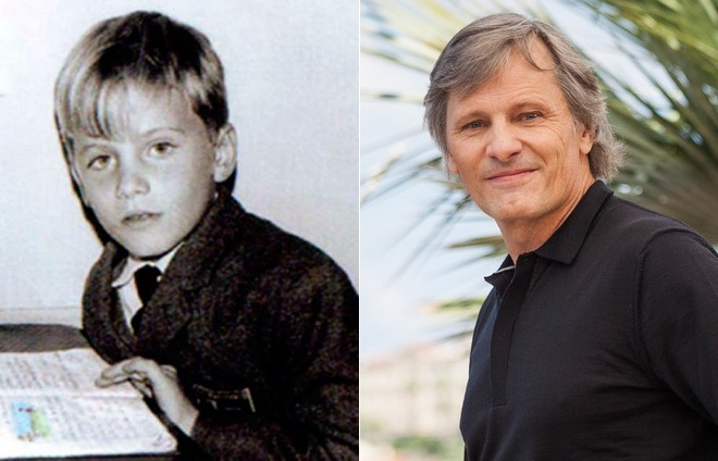 Вигго Мортенсен в детстве и сейчас