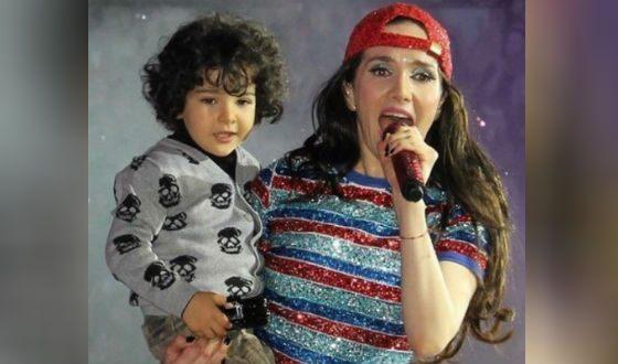 Наталья Орейро с сыном