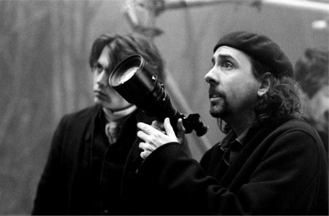 Тим Бертон на съемках фильма «Сонная Лощина»