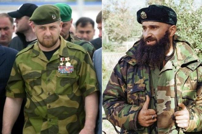 Рамзан Кадыров и Шамиль Басаев