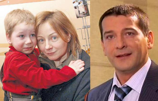 Евгения Добровольская с сыном Яном и Ярослав Бойко