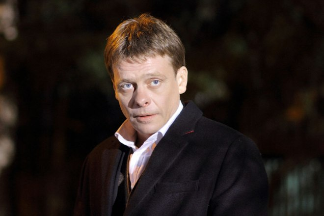 Павел Майков на съемках сериала «Гончие: Западня»