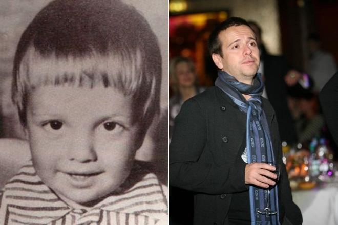 Андрей Губин в детстве и сейчас