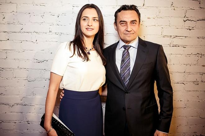 Камиль Ларин с женой Екатериной Андреевой