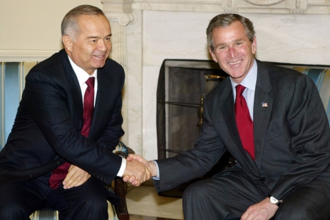 Ислам Каримов и Джордж Буш