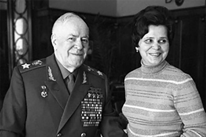 Георгий Жуков с женой