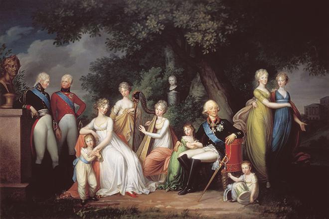 Павел I с семьей