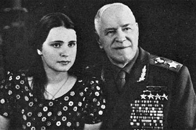 Георгий Жуков и его дочь