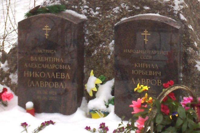 Могила Кирилла Лаврова и Валентины Николаевой