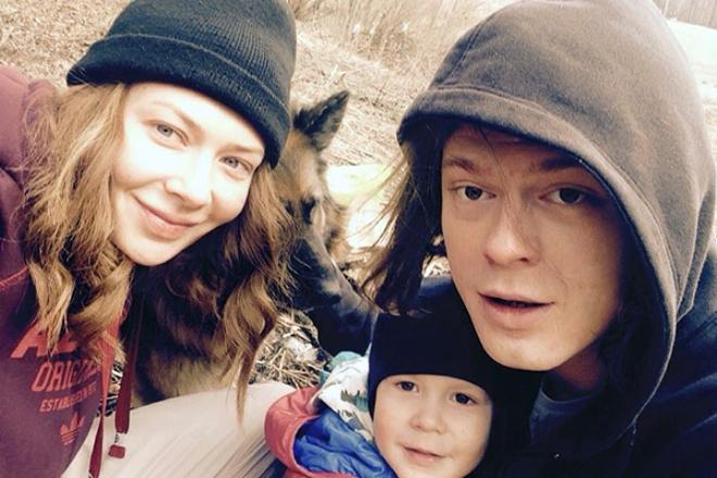 Наталья Ноздрина с семьей