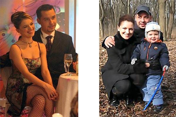 Наталья Юнникова с мужем Антоном Федотовым и сыном Роланом