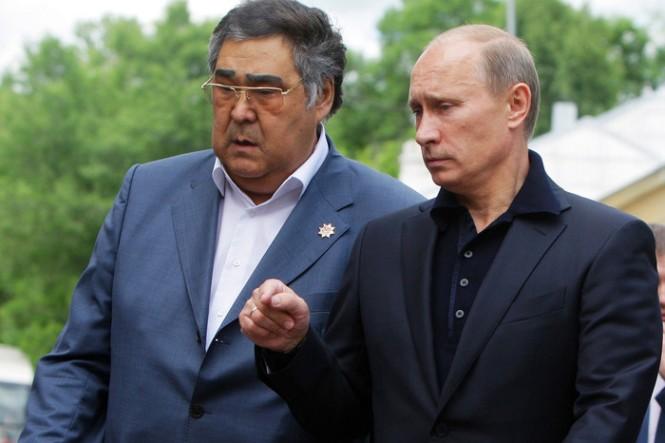 Аман Тулеев и Владимир Путин