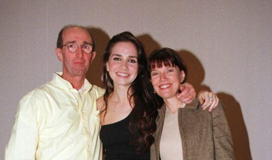 Наталья Орейро с родителями