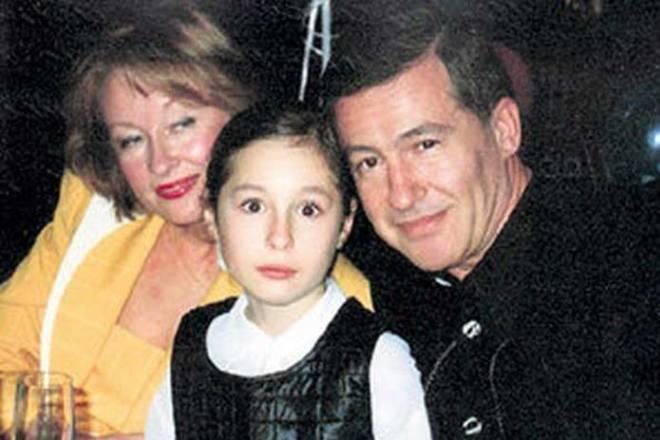 Лариса Удовиченко с бывшим мужем Геннадием Болгариным и дочерью