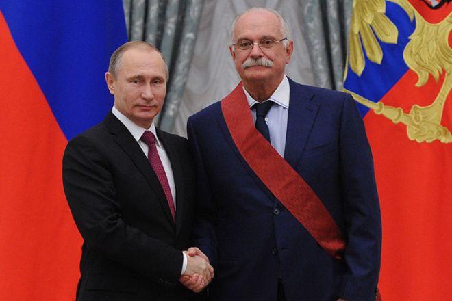 Никита Михалков и Владимир Путин