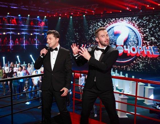 Владимир Зеленский и Дмитрий Шепелев на украинском телевидении