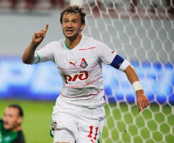 Дмитрий Сычев в разное время играл за разные футбольные клубы