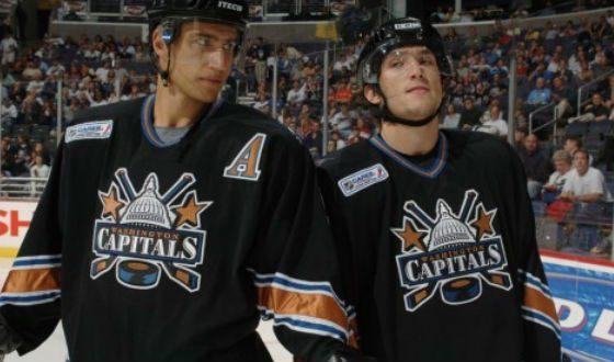 Овечкин в день его дебюта в НХЛ