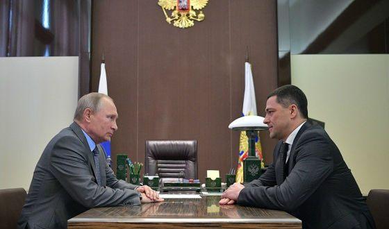 Михаил Ведерников и Владимир Путин