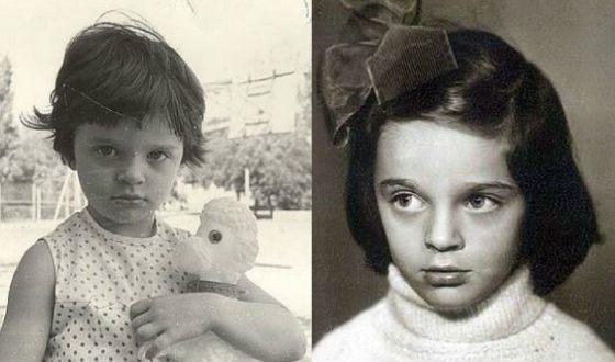 Детские фото Елены Ваенги