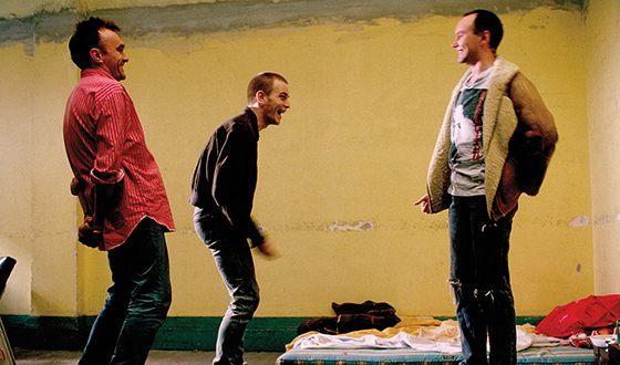 Дэнни Бойл на съемках фильма «На игле»