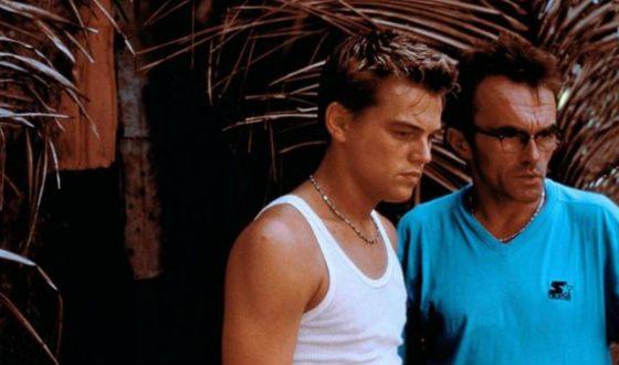 Молодой Дэнни Бойл и Леонардо Ди Каприо на съемках «Пляжа»