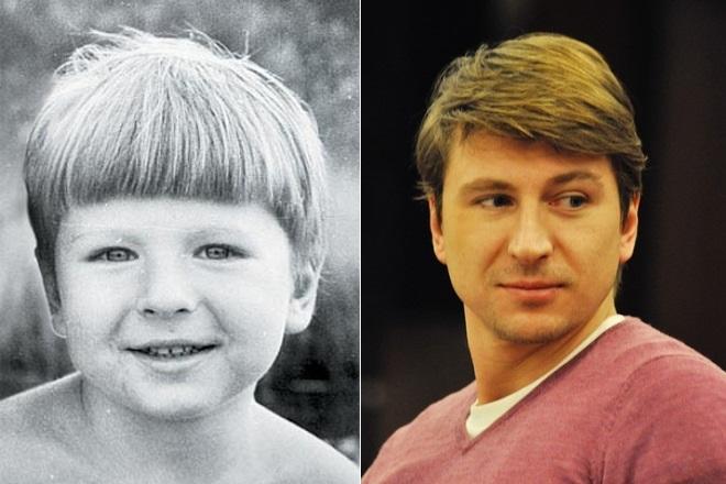 Алексей Ягудин в детстве и сейчас