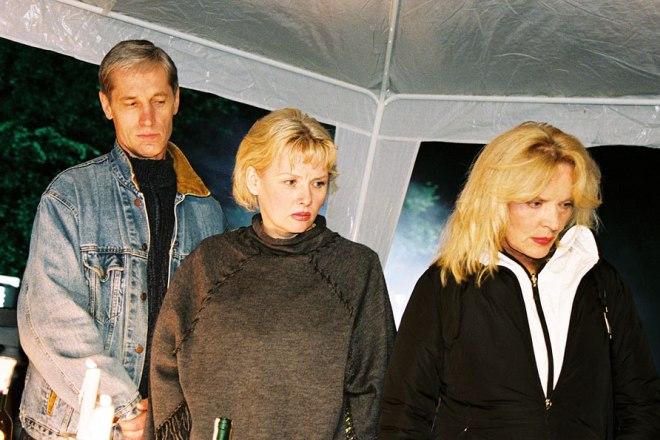 Сергей Варчук, Тамара Акулова и Марианна Вертинская на съемках фильма